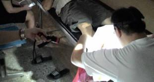 林中一醫師進入烏來協助醫治當地民眾。