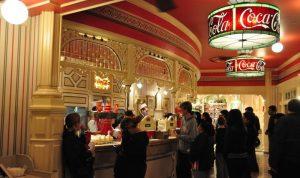 迪士尼樂園的可口可樂店