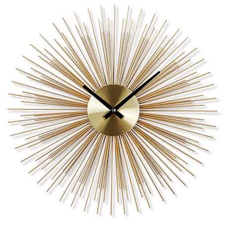 現代風格金屬玫瑰金鐵線壁鐘 售價1,690元