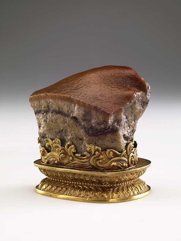 故宮院藏的「清朝肉型石」,明年將首度赴美展出。