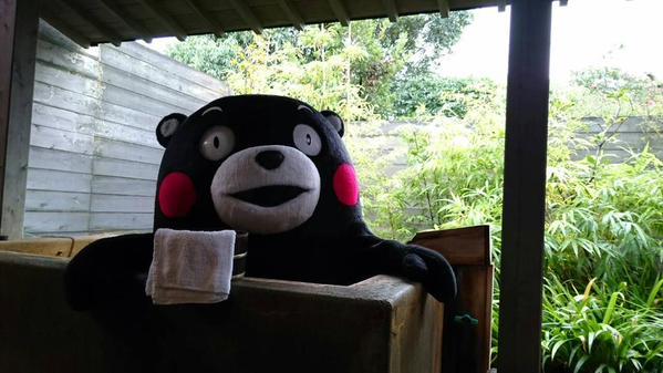 真會享受的熊本熊阿,₍₍ ◝(●˙꒳˙●)◜ ₎₎