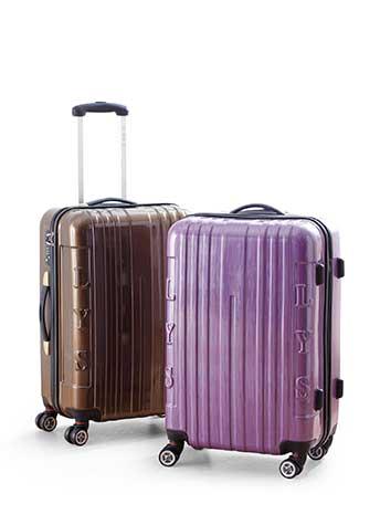 巴黎時尚PC拉絲行李箱2件組 (23吋/19吋,多段鋁合金拉桿,360度旋轉飛機輪) 原價3990元 特價5 折