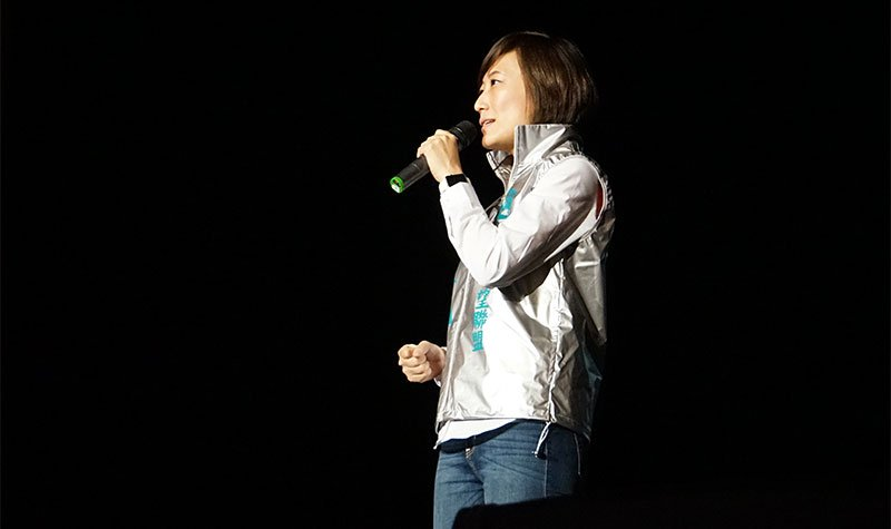 信望盟左楠區立委候選人梁蓓禎說,她的政見「從心開始」。