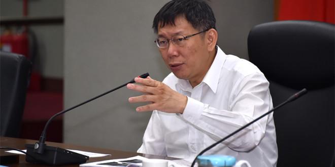 柯文哲強制徵收引來網友酸「和劉政鴻有什麼不同?」3日柯文哲對此回應表示,「你也比個好一點的。」 圖片來源:台北市政府提供