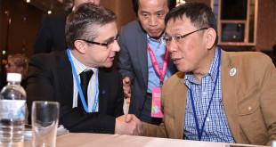面對都更辦法公布,台北市長柯文哲表示,建立機制是為了讓台北市都更能順利推動,並沒有針對特定個案。  圖片來源:台北市政府