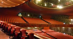 台中歌劇院預定於8月點交,立院教育和文化委員會前往考察,並和台中市府協調在地回饋方案,包括針對台中市民購票更多優惠,但此舉引起文藝界強烈反彈。  圖片來源:國家台中歌劇院