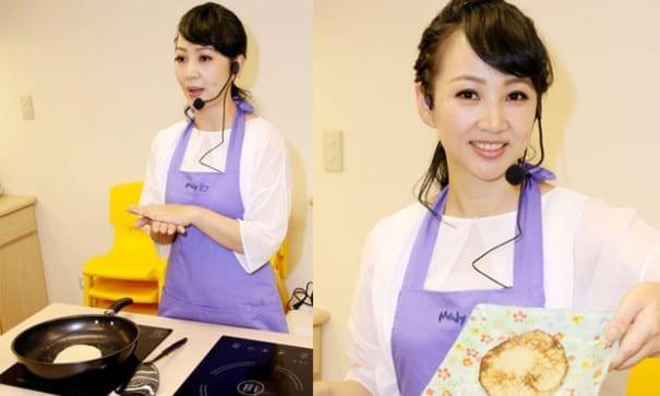 郁方受邀擔任名人來館–名人來下廚活動人,親自示範簡單料理。(圖片來源:美麗時尚新聞報)