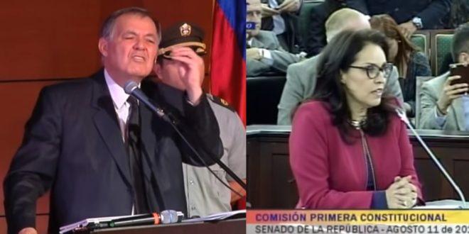 總檢察長奧多涅斯(左)計劃推動憲法改革禁止同性婚姻,參議員莫拉萊斯(右)也提出公投法案讓哥倫比亞人民投票決定同性伴侶領養的法條。(翻攝網路)