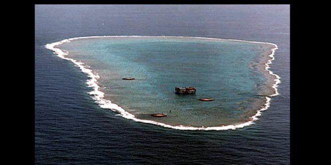 張揆表示,沖之鳥的自然地理只是9平方公尺大,在國際法上,絕對是礁,不是島,沒有200浬經濟海域。(圖片來源/wiki)