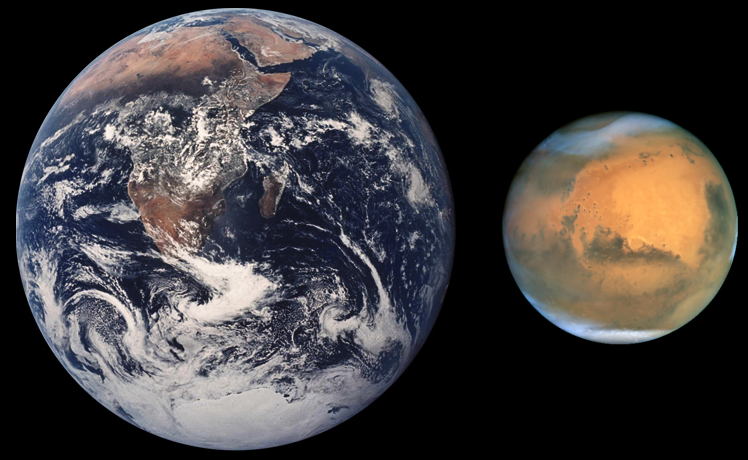 火星衝為火星最接近地球的時候,最適合觀測火星。〈圖片來源:翻攝維基百科〉