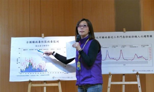 新北市衛生局拿出過住數據,說明腸病毒潛伏時間。(圖片來源:新北市衛生局)