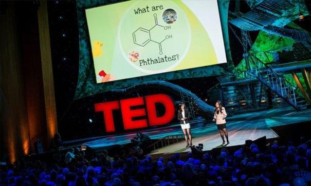 佳韵與郁雯受邀到TED TALK分享實驗過程。(圖片摘自網路)