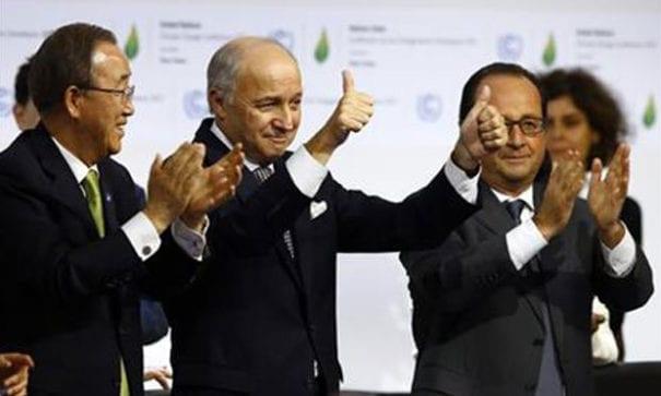 全球160位國家領袖齊聚聯合國,共同簽署巴黎協定。(圖片摘自網路)
