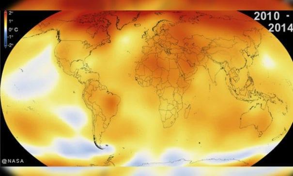 地球暖化在15年間有劇烈的變化。(圖片摘自網路)