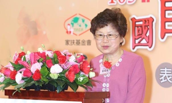 準副總統夫人羅鳳蘋女士致詞為自強母親獻上祝福。(圖片來源:家扶基金會)
