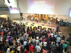 台中聚集點之一旌旗教會。