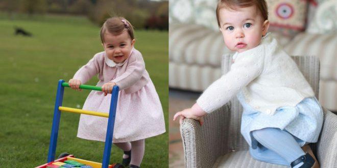 小公主夏綠蒂滿周歲萌照。(Kensington Palace's twitter)