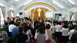 彰化地區於鹿港教會舉行禱告會。