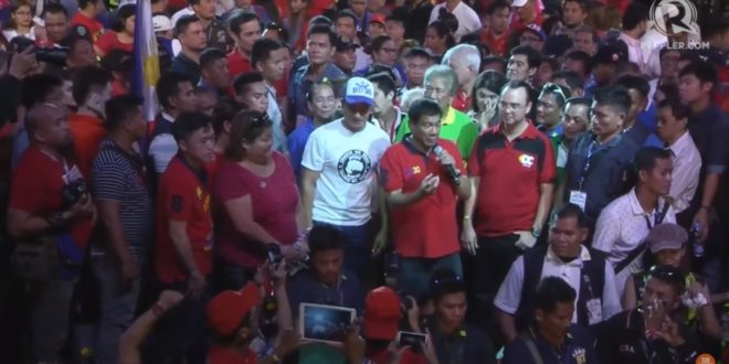 有東方川普之稱的前達沃市長杜特蒂呼聲高,很有可能在菲國總統大選中勝出。(翻攝網路)