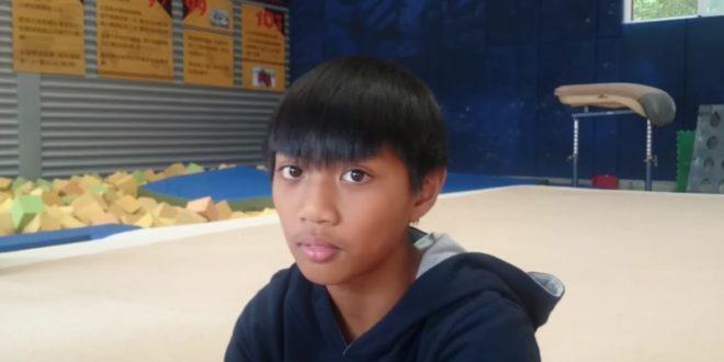 黃彥章說對六年不見的爸爸說:「爸爸,希望哪天你能看到我的比賽,我已經很厲害了,請不要為我操心。」(翻攝youtube/中央社)