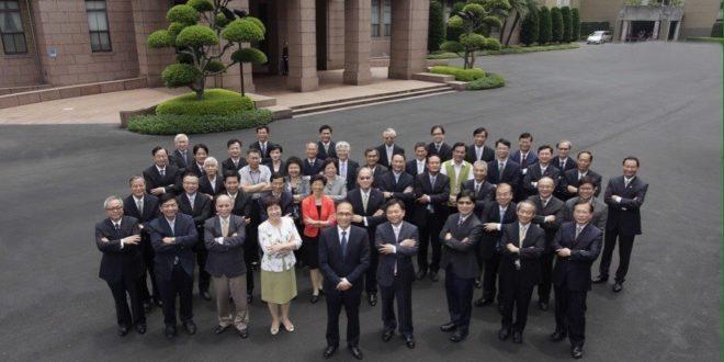 行政院長林全今天第一次主持行政院院會,對閣員友3要求、3期許。  圖片來源: Chen-yuan Tung臉書