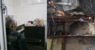 志工將獨居爺爺的老房子翻修並加上電源(左圖),右圖為原本房子的模樣。(圖片來源/衡山行善團臉書)