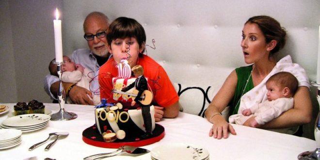 席琳狄翁與去世的老公感情深厚,她在臉書常PO出全家福照,看起來非常幸福美滿,圖為他們替大兒子慶生的照片。(圖片來源/翻攝自席琳狄翁臉書)