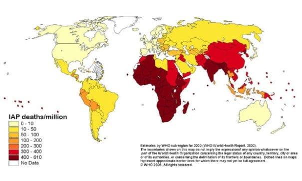 耶魯大學去年做過全球空污調查,其中亞洲區中國及印度污染最為嚴重。(圖片來源/耶魯大學)