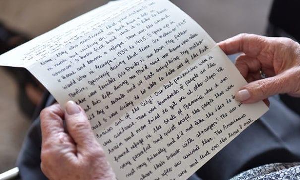 海爾格在信中為敍利亞難民打氣。(圖片摘自mashable.com)