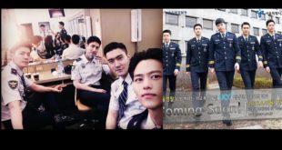 正在服義務警察役的昌珉、始源和東海,也為警察局拍攝舞蹈宣傳影片。(圖片來源/max_changminofficial-instagram)