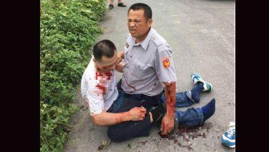 Photo of 警槍戰中彈負傷 壓制通緝犯網友瘋傳「真男人」
