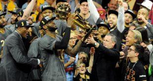騎士隊逆轉勝,奪下創隊46年以來的第一個冠軍獎盃。(圖片來源/NBA臉書)