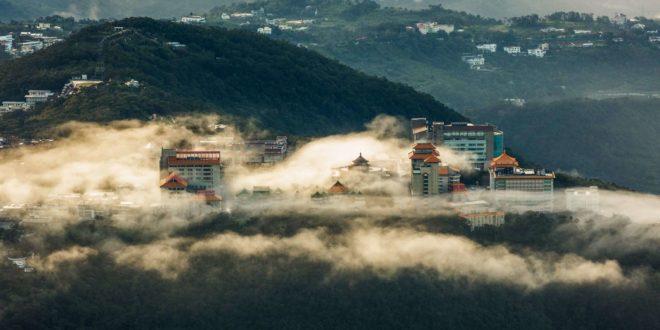大屯山上拍攝的文化大學。〈圖片來源:Theerasak Saksritawee〉
