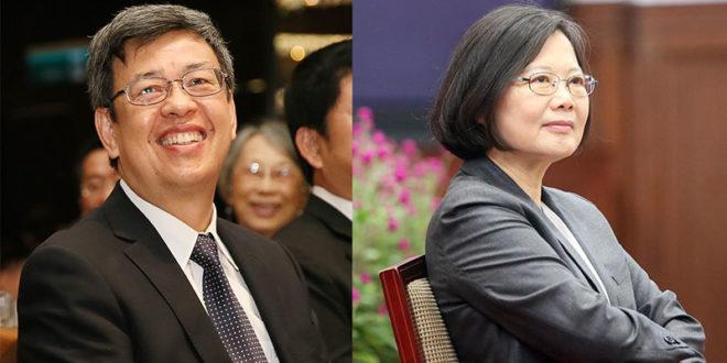 總統蔡英文(右)和副總統陳建仁(左)將在上任半年內各出訪中南美洲和歐洲的友邦。  圖片來源:蔡英文臉書、總統府flickr