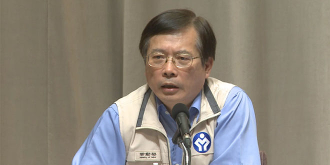 勞動部長郭芳煜表示,未來將增加勞檢員到1000人以上,並將加以訓練,希望落實勞動檢查。  圖片來源:影片截圖