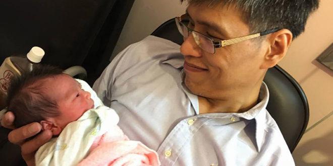 亞洲第一對分離成功的連體嬰張忠義日前喜獲龍鳳胎。  圖片來源:陳凱倫臉書