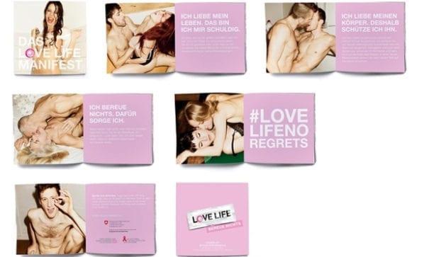 防愛滋手冊也出現成人嘿秀照片。(圖片來源:LOVE LIFE)