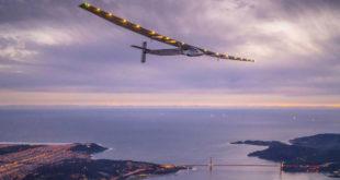 全球第一部太陽能飛機日前抵達紐約,完成飛越美洲大陸的旅程。(圖片來源:independent)