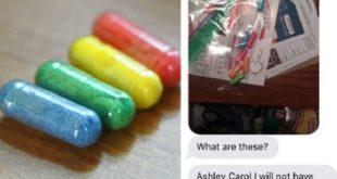 就是這幾顆彩色膠囊,害美國學生班克絲的母親以為她吸毒。可見毒品問題在美國校園相當嚴重。(圖片來源/翻攝自網路)