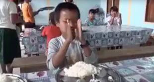 網友看到育幼院小朋友知足常樂的心,備受感動。(圖片摘自youtube)