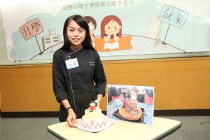 即將畢業的小柔特地做蛋糕回饋感謝家扶。(圖片來源:家扶基金會)