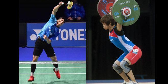 女子舉重的許淑淨、男子羽球周天成,都是目前我國奪牌呼聲高的選手。(左:周天程臉書/右:許淑淨臉書)