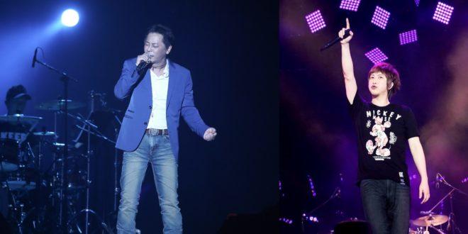 睽違12年王傑再度登台,力邀阿信合唱《一場遊戲一場夢》。(圖片來源:相信音樂提供&阿信臉書)