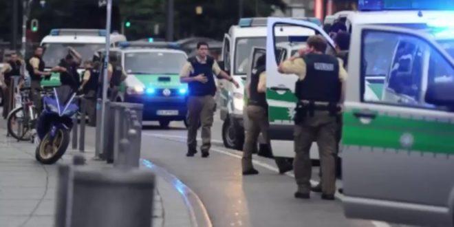 購物中心槍擊案發生後 ,慕尼黑市緊急宣布進入緊急狀態。((翻攝網路)