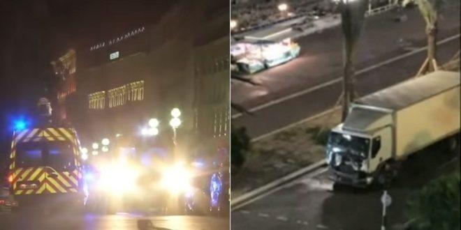 法國再傳恐怖攻擊事件,法國國慶日當天一輛卡車衝入人群,造成百人死傷的慘劇。(圖片來源:翻攝網路)
