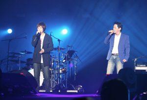 王傑睽違台灣歌壇12年後,再次讓經典重現舞台,還邀阿信上台。(圖片來源:相信音樂提供)
