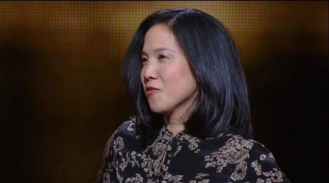 賓夕法尼亞大學心理學教授Angela Duckworth在TED的演講 (圖片來源 : TED)