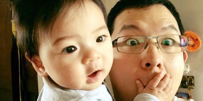 史俊威在臉書上,放上與兒子逗趣的合照,網友大讚兩人長的超像。(圖片來源/翻攝自史俊威臉書)