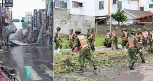尼伯特颱風重創台東,10日起全台物資、人力等資源紛紛湧向台東援助救災。(圖片來源:合成圖)