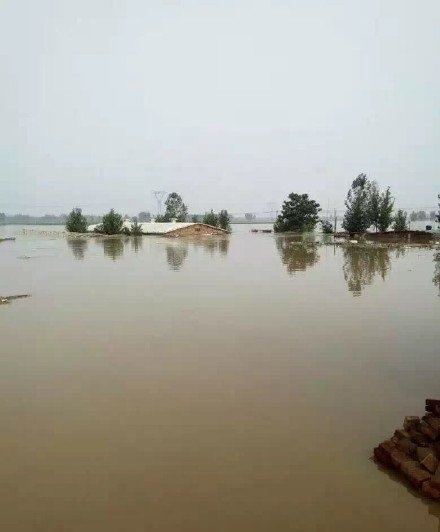 河北洪災。(圖片來源:翻攝微博)